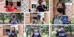 Rice students back on campus for the Fall 2020 semester following safety guidelines